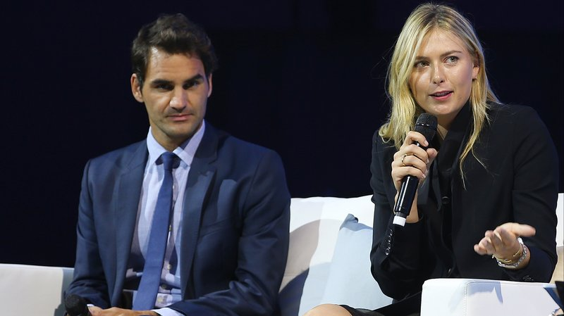 Cum l-a scos din minți Sharapova pe Federer!. Federer și Sharapova