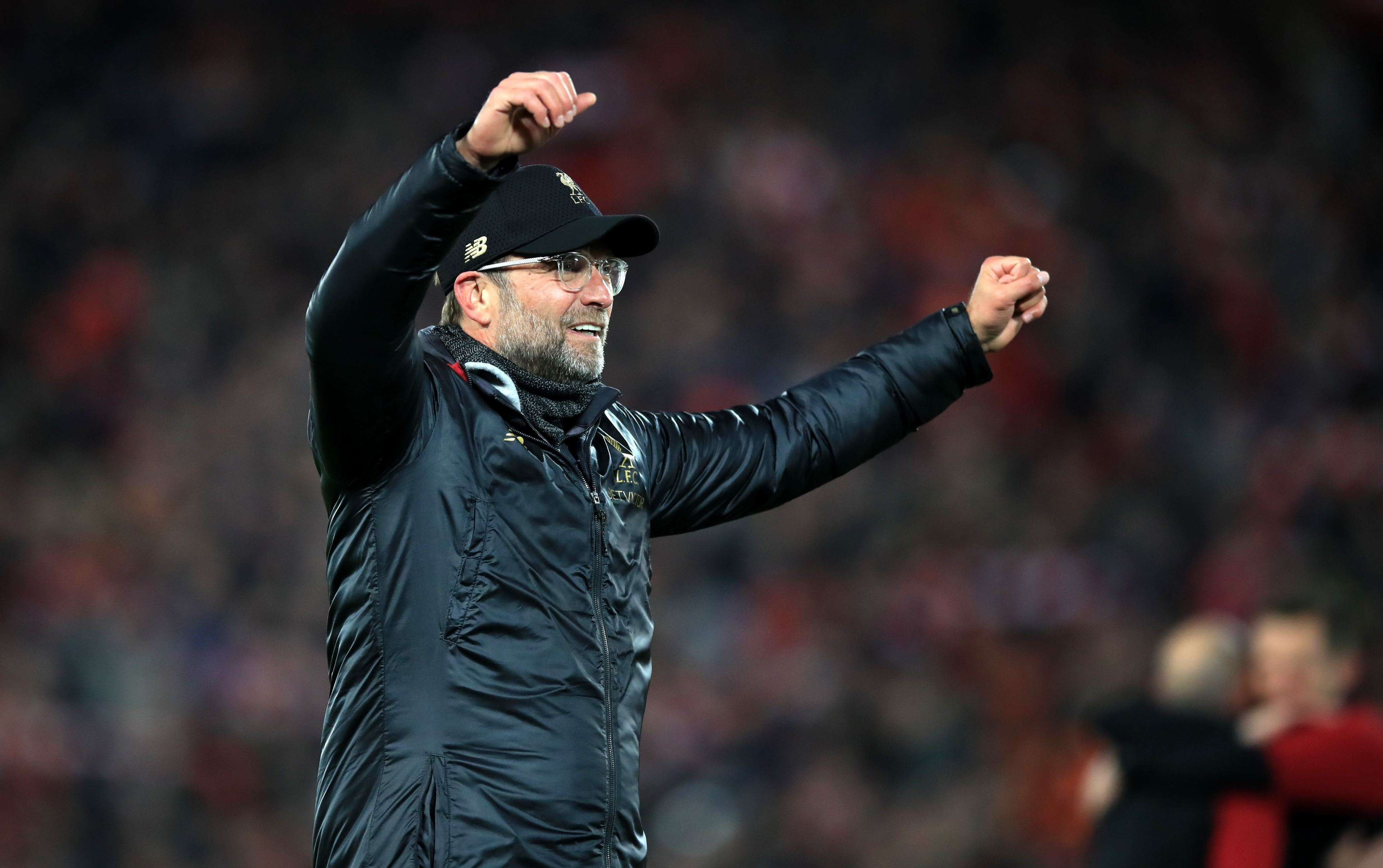Jurgen Klopp sărbătorind calificarea în finala Champions League