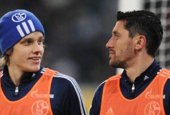 Teemu Pukki și Ciprian Marica la Schalke