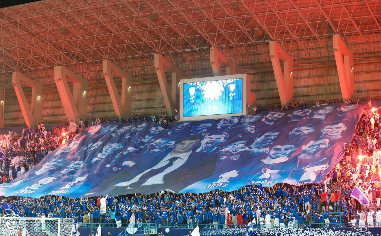 Bannerul realizat de fanii lui Al Hilal pentru Răzvan Lucescu
