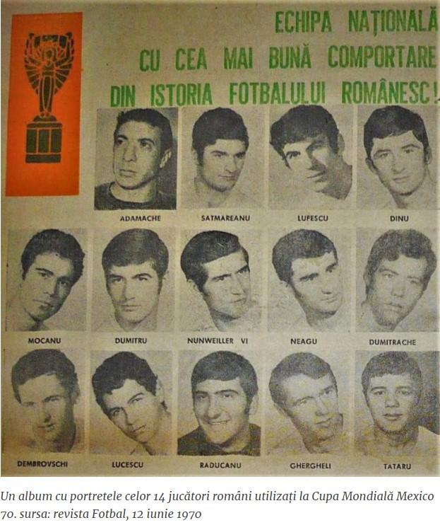 România în Mexic 1970