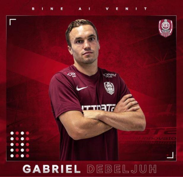 Gabriel Debeljuh s-a transferat de la FC Hermannstadt la CFR Cluj. FOTO: facebook