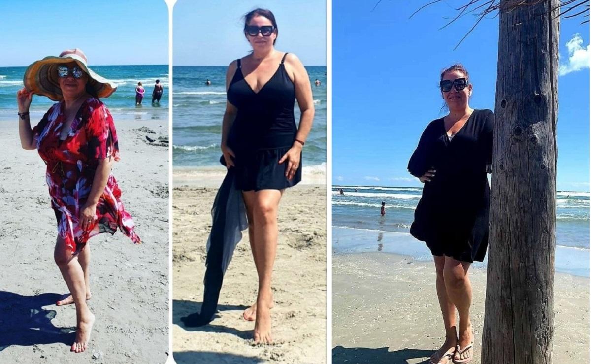 Oana Roman, de nerecunoscut pe plajă! Soția lui Marius Elisei a întors toate privirile când a apărut în costum de baie