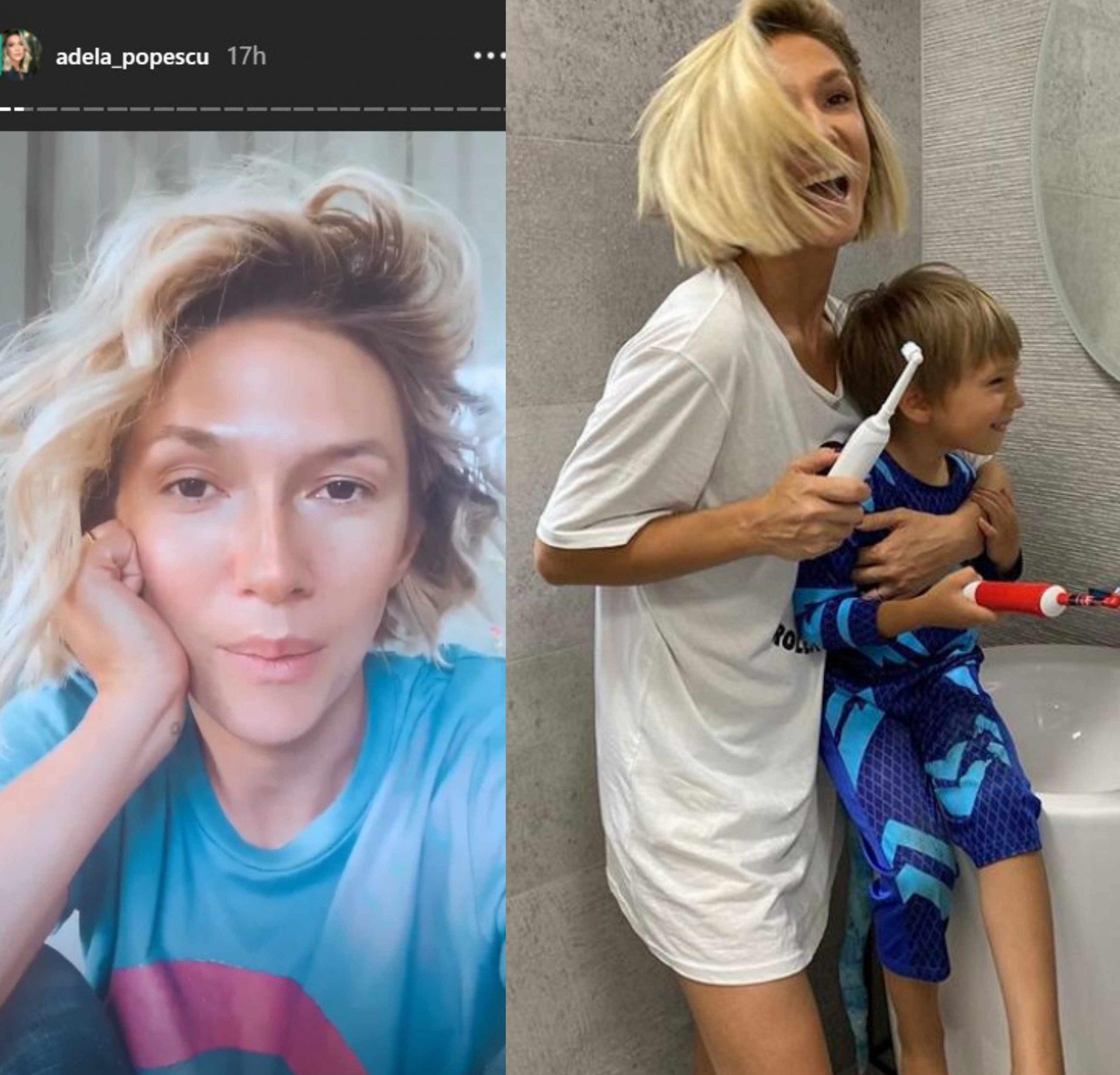 Adela Popescu este fără doar și poate o femeie frumoasă și fără machiaj