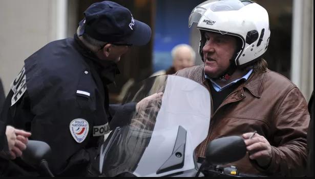 Gerard Depardieu, oprit în trafic de polițiștii din Paris