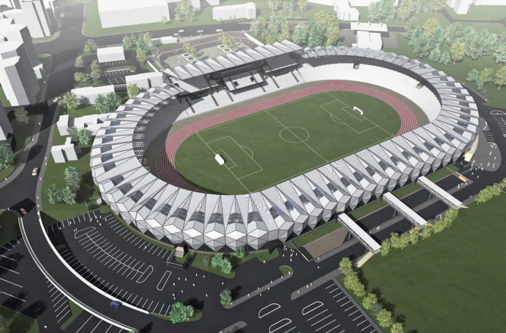 Proiectul stadionului de la Bacau. Sursa foto: colectie personala Aurel Damian