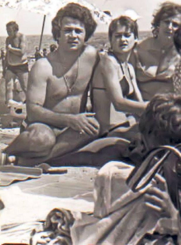 Nadia Comăneci și Ion Dolănescu, la plajă, în anii tinereții