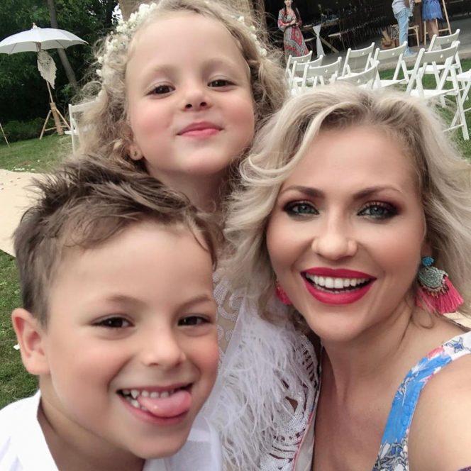 Mirela Vaida și copiii ei