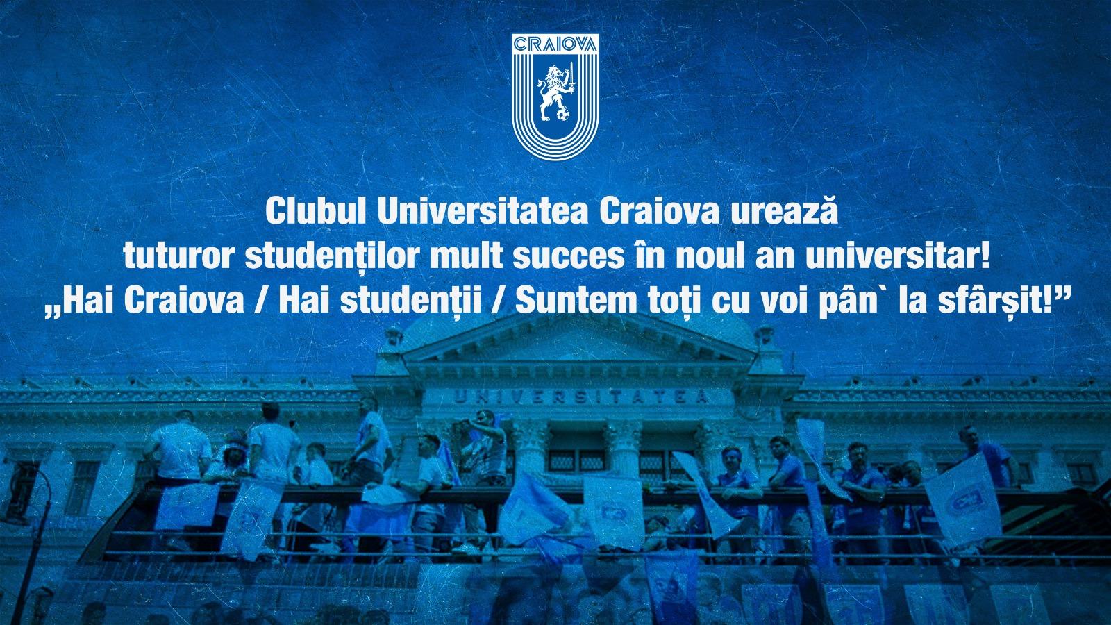 Universitatea Craiova - an universitar