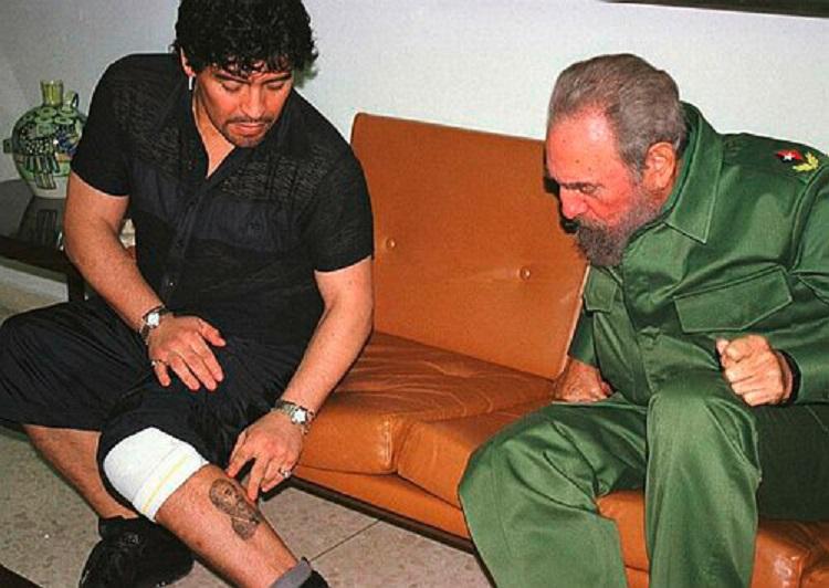 Diego Maradona si Fidel Castro