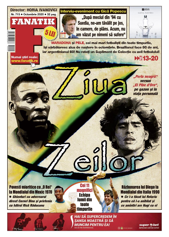 coperta Fanatik 715 Pelé si Maradona