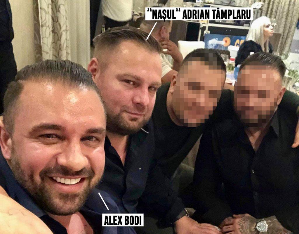 Alex Bodi și Adrian Tâmplaru, împreună cu alți doi prieteni