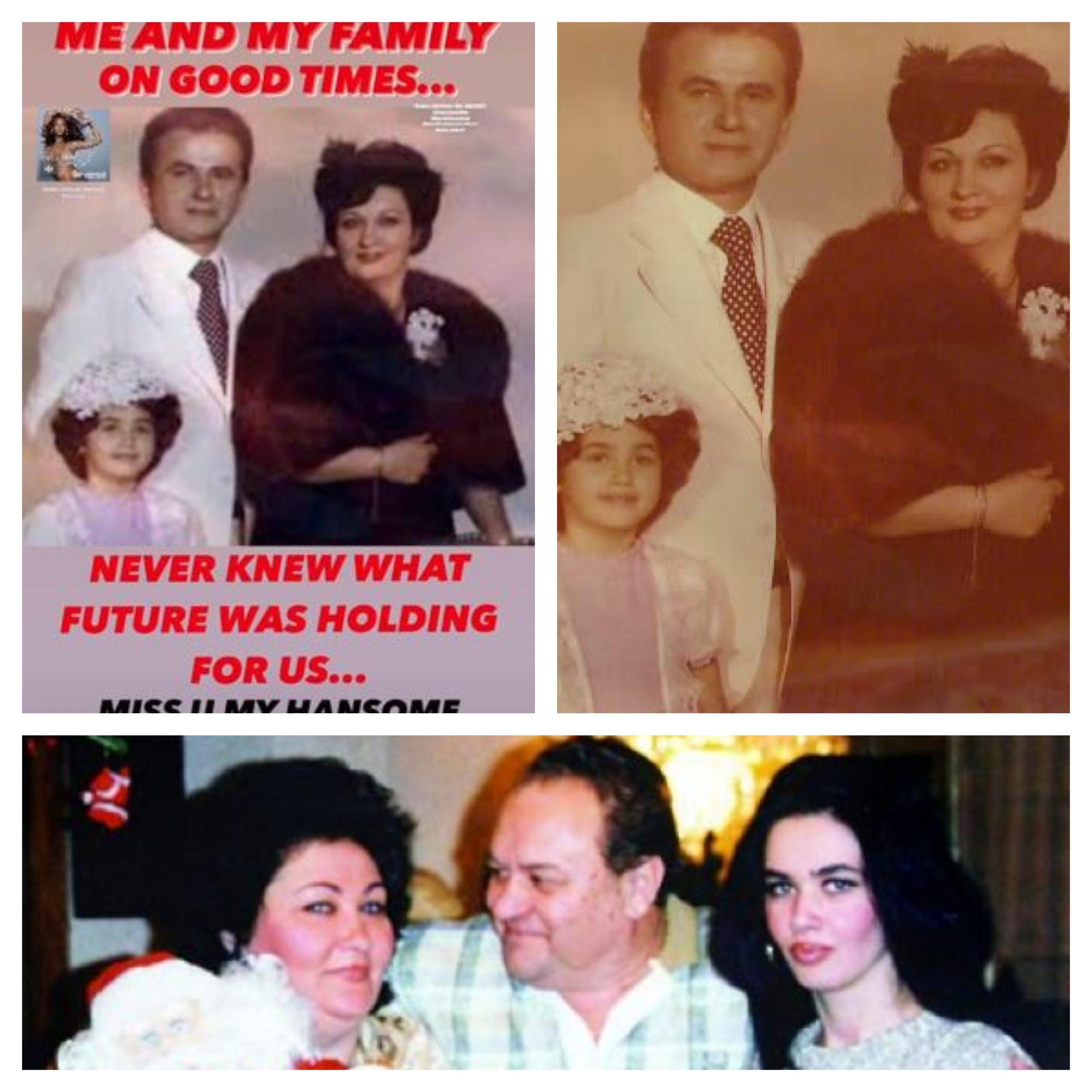 Oana Zăvoranu și familia sa, în copilărie