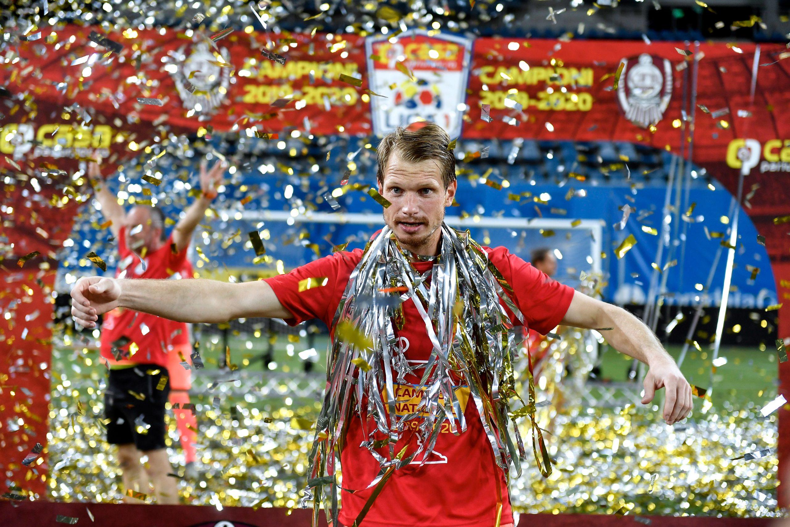 LIGA 1 UNIVERSITATEA CRAIOVA - CFR CLUJ Arlauskis campion confetii INQUAM Alex Nicodim