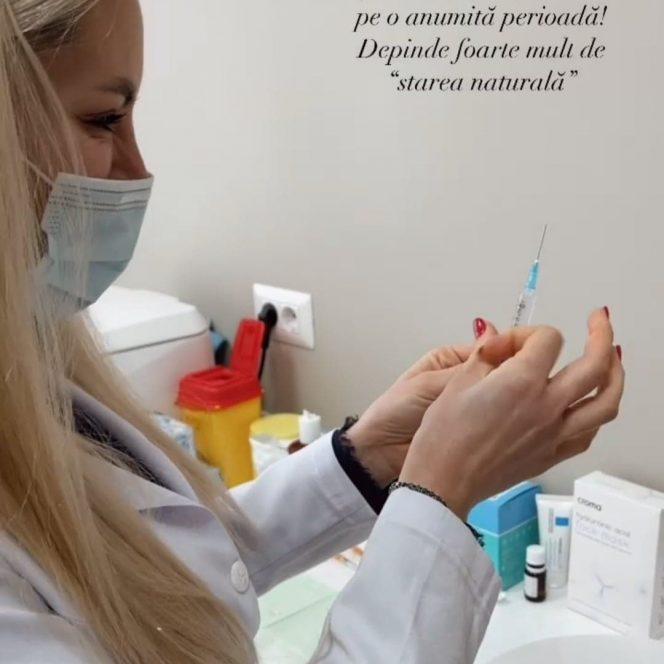 Vladuța Lupău, vizită la medicul estetician Sursa foto: InstaStory