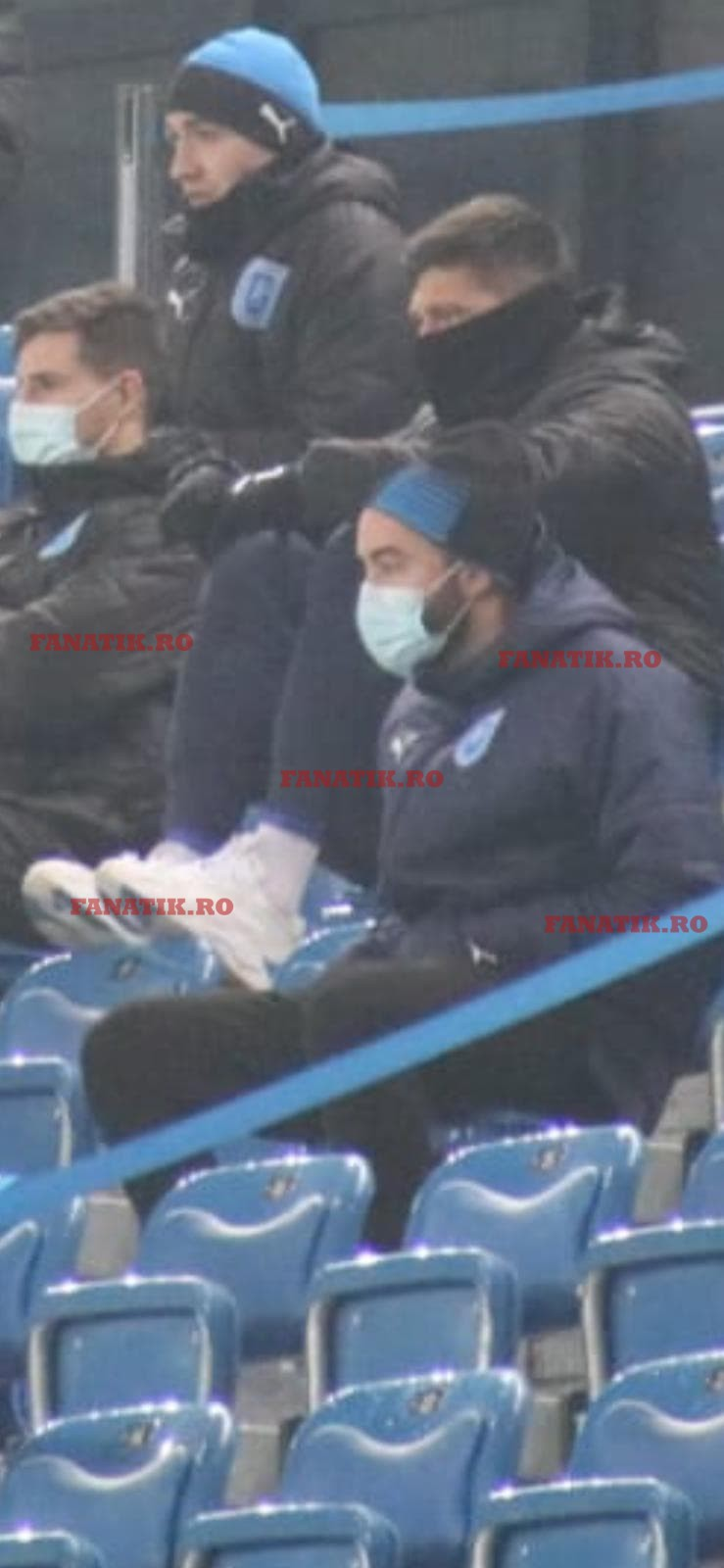 Rui Santos, în tribunele stadionului Ion Oblemenco la meciul cu Sepsi. FOTO: fanatik