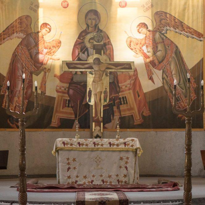 Altarul Bisericii Sfântul Ioan din Efes (sursa www.facebook.com)