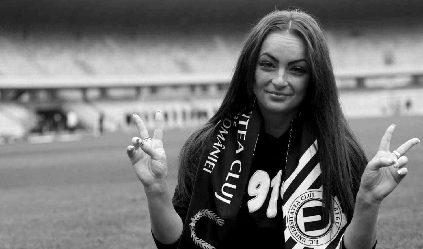 Alina Ioana Petruş, pe stadionul lui U Cluj. FOTO: facebook