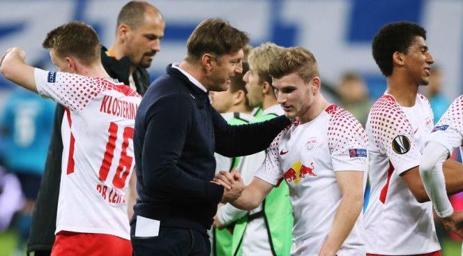 Ralph Hasenhuttl și Timo Werner, la RB Leipzig. Sursa foto: Teamtalk