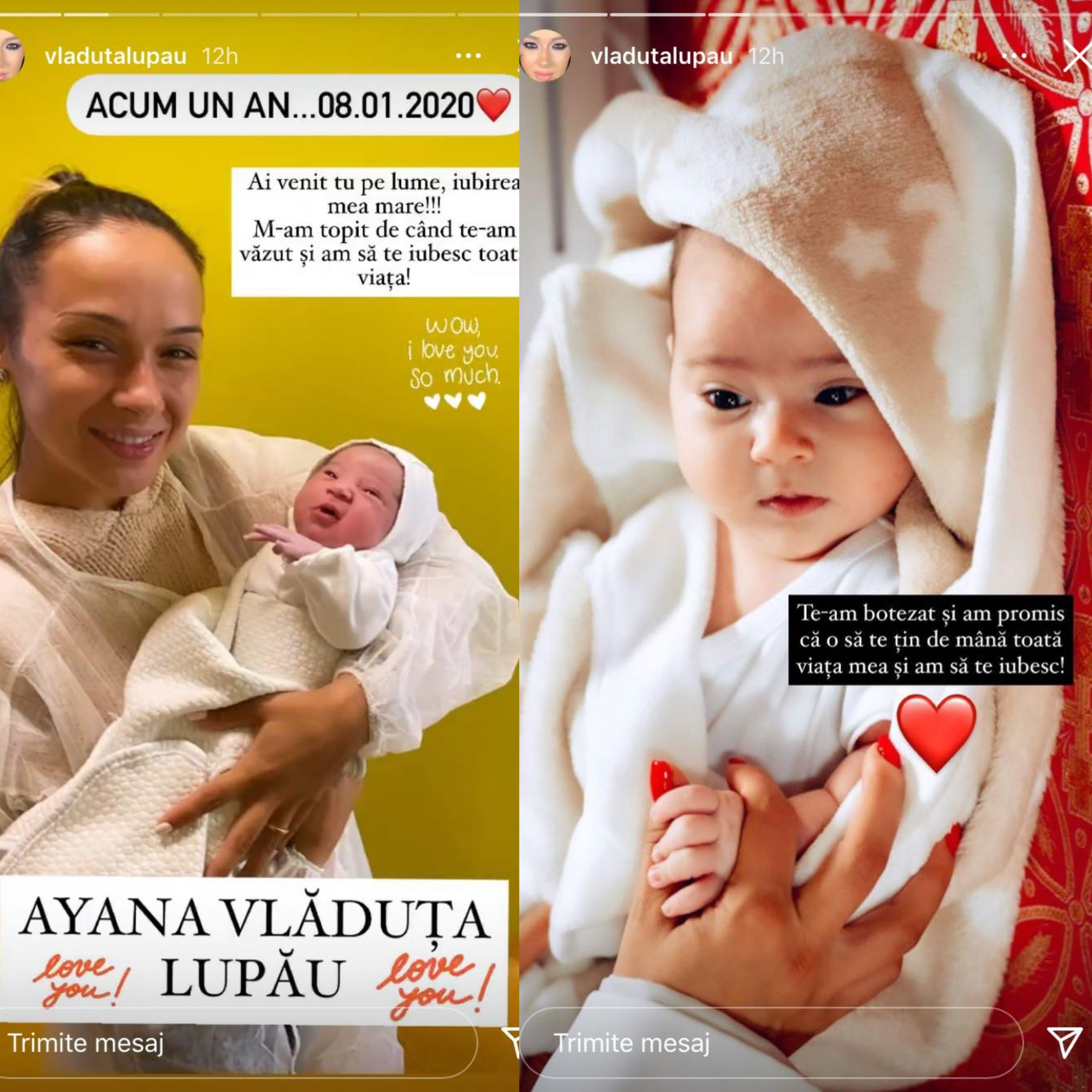 Vlăduța Lupău, mândră și fericită pentru nepoata sa