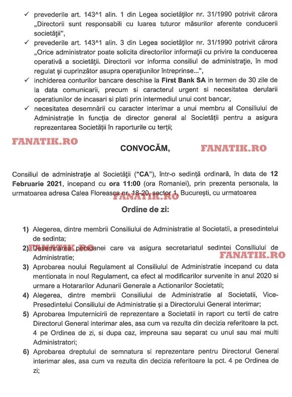 Ordine de zi CA Dinamo 2