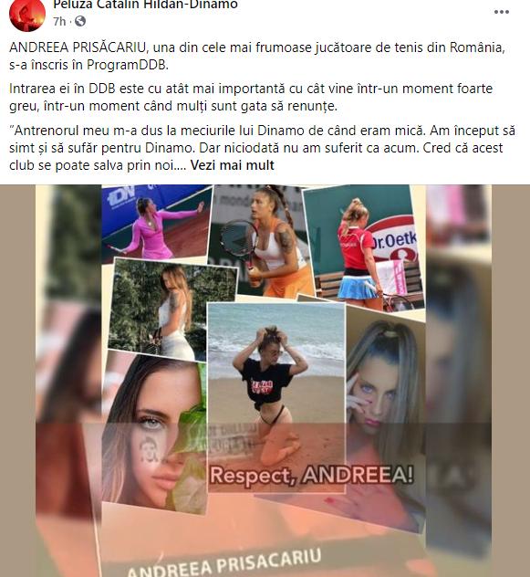 Postarea făcută de Peluza Cătălin Hîldan pe Facebook. Sursă foto: captură/Facebook