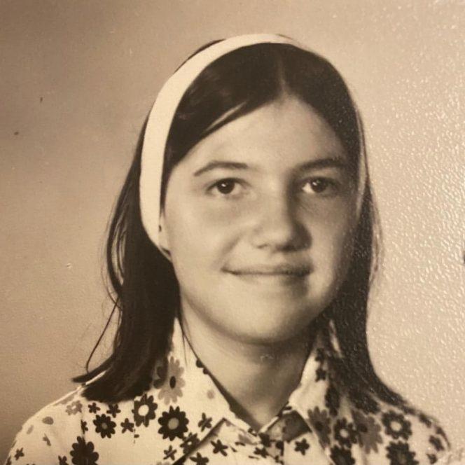Marina Almășan, în perioada liceului. Sursă foto: Arhivă personală