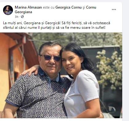 Georgică Cornu şi fiica sa, Georgiana