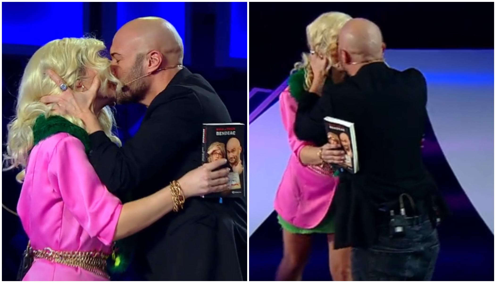 Mihai Bendeac și Gina Felea s-au sărutat la iUmor