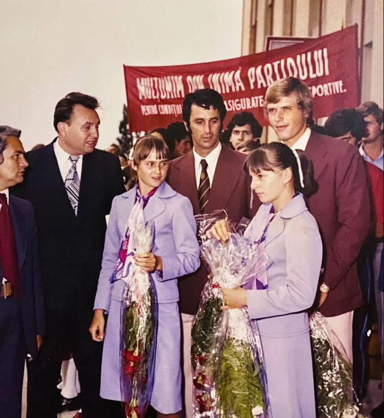 Nadia Comăneci, Cristian Gațu și Vasile Dîba