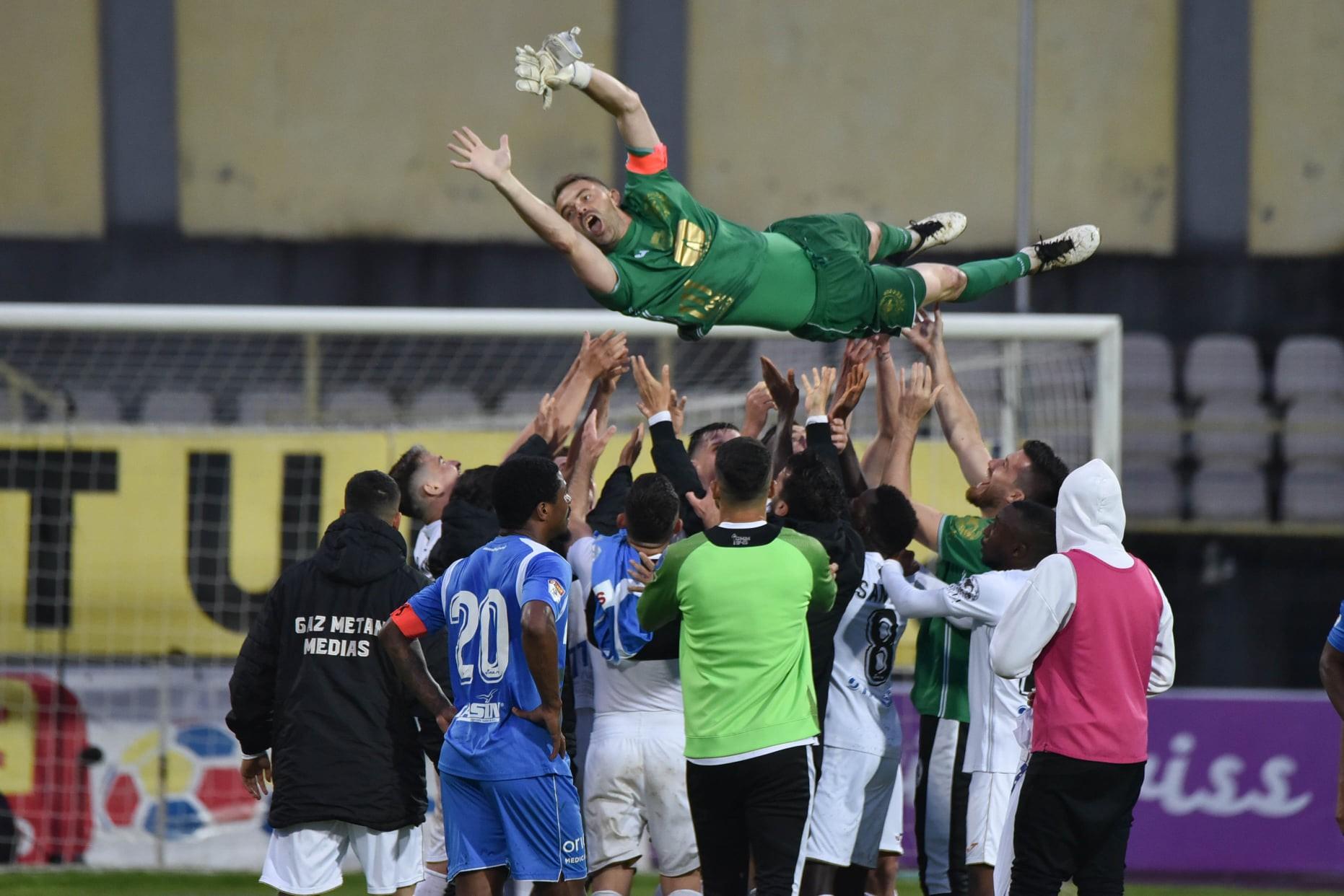 Razvan Plesca, la ultimul meci din cariera