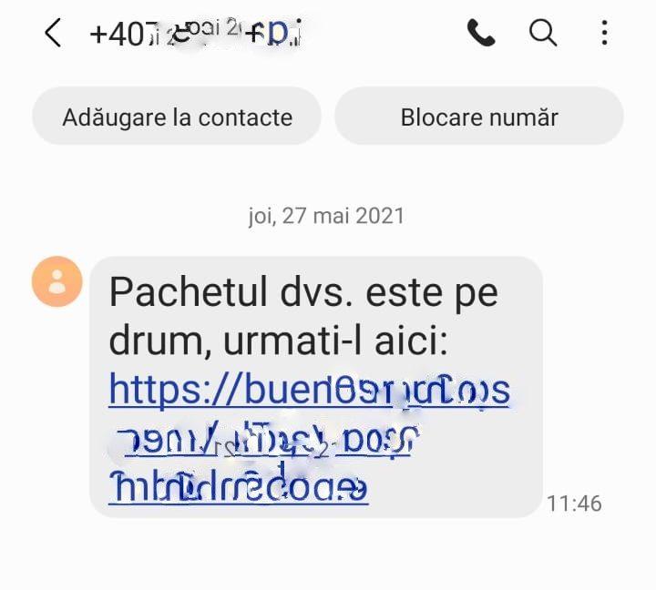 Metodă înțelătorie prin SMS