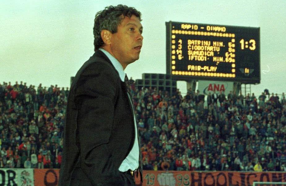 Mircea Lucescu pe banca Rapidului impotriva lui Dinamo