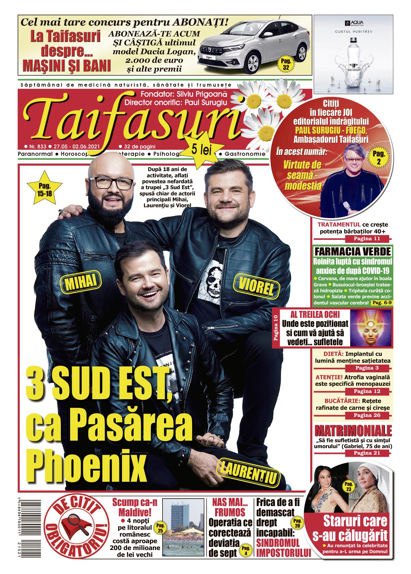 coperta revista Taifasuri 833
