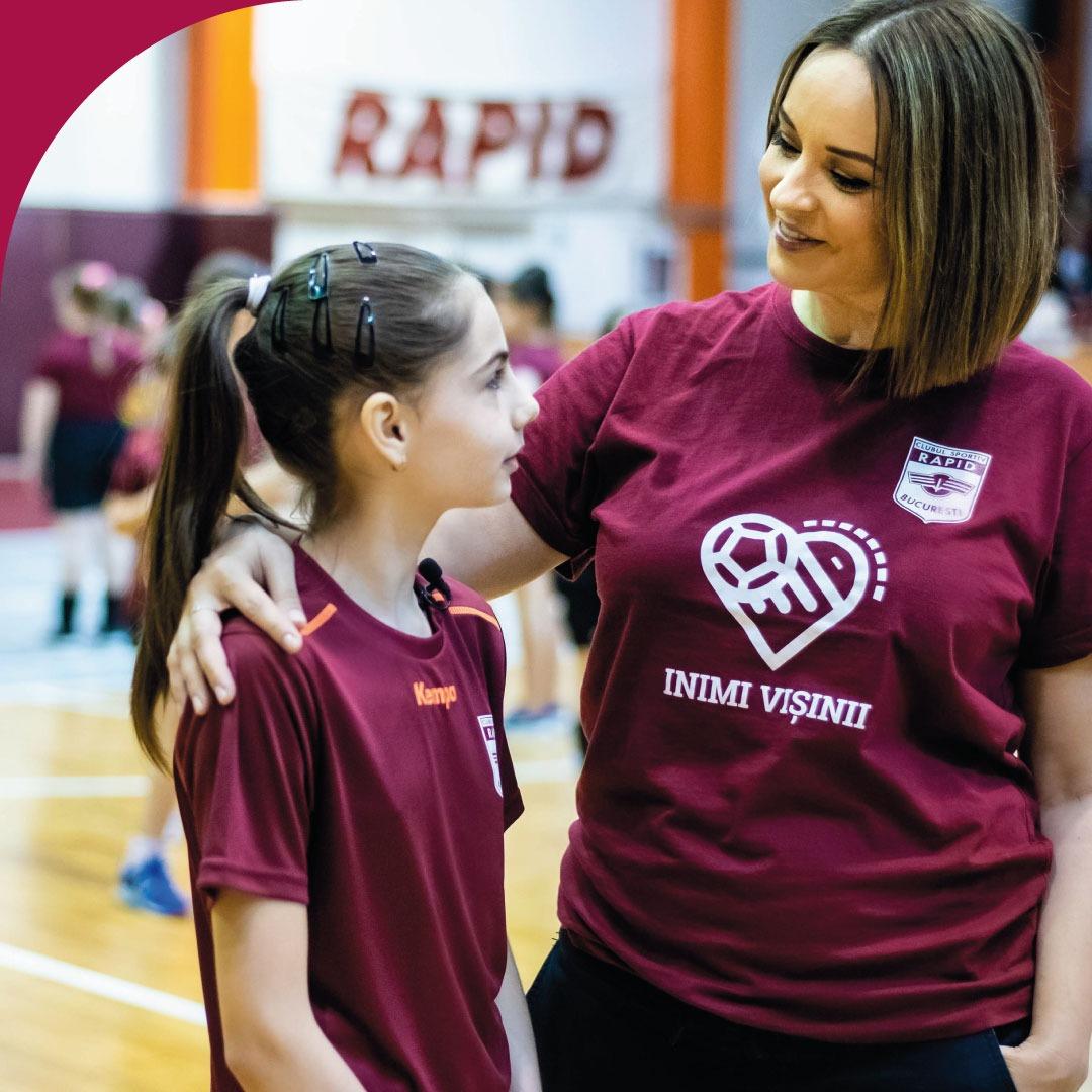 Andreea Marin proiect umanitar echipa de handbal feminin Rapid