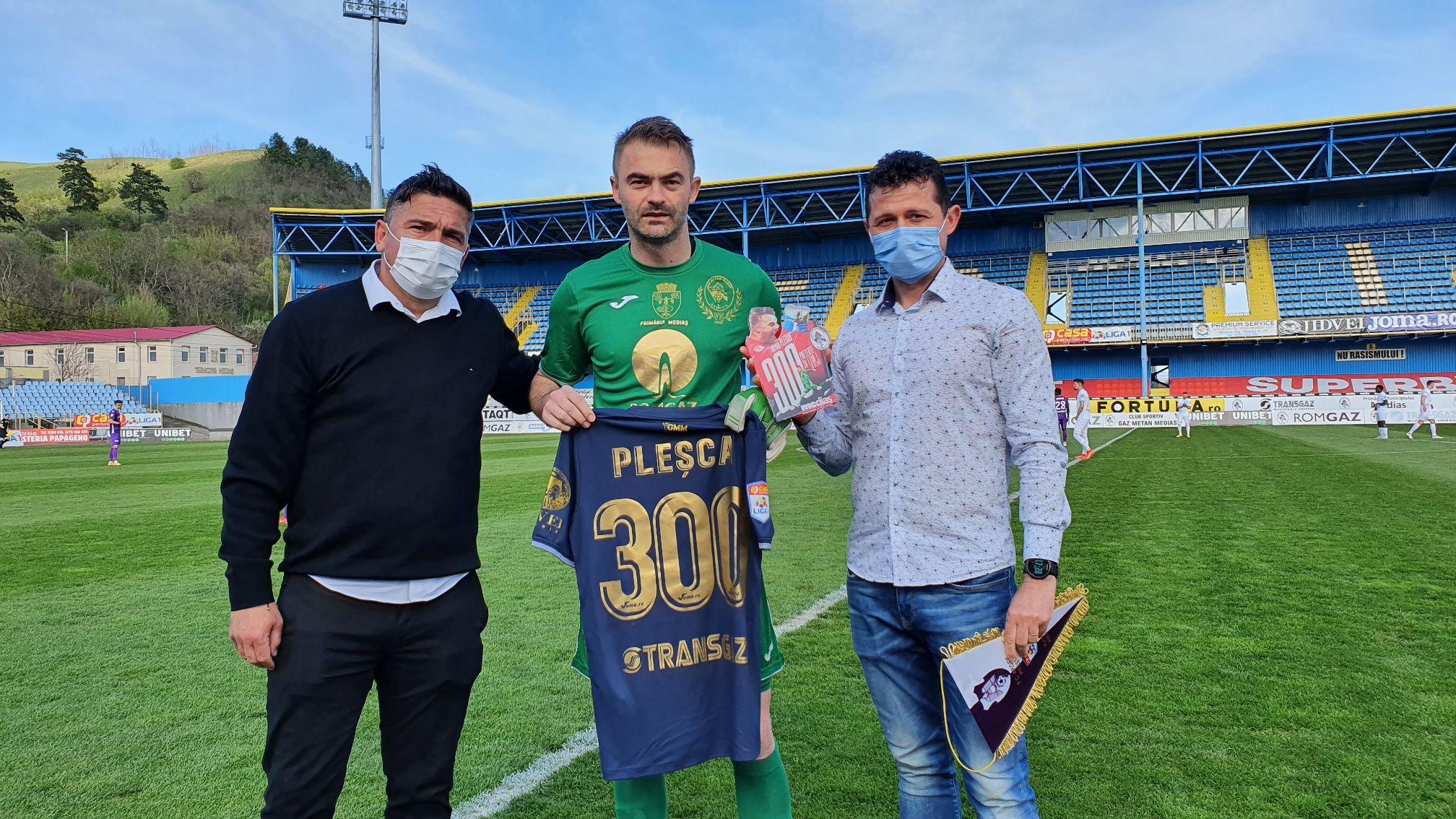 Razvan Plesca la meciul cu numarul 300 in Liga 1