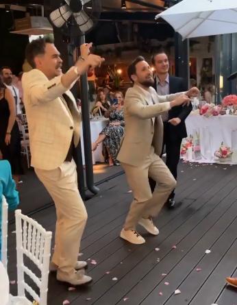 Răzvan Simion la nunta lui Dani Oțil.