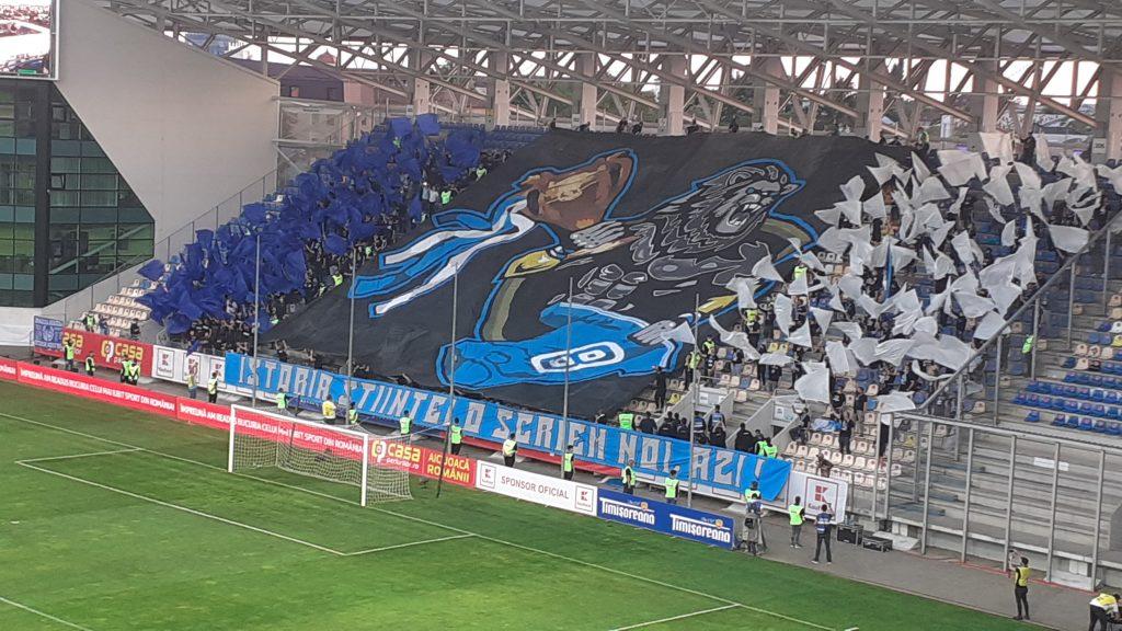 Coregrafia fanilor Craiovei. FOTO: FANATIK