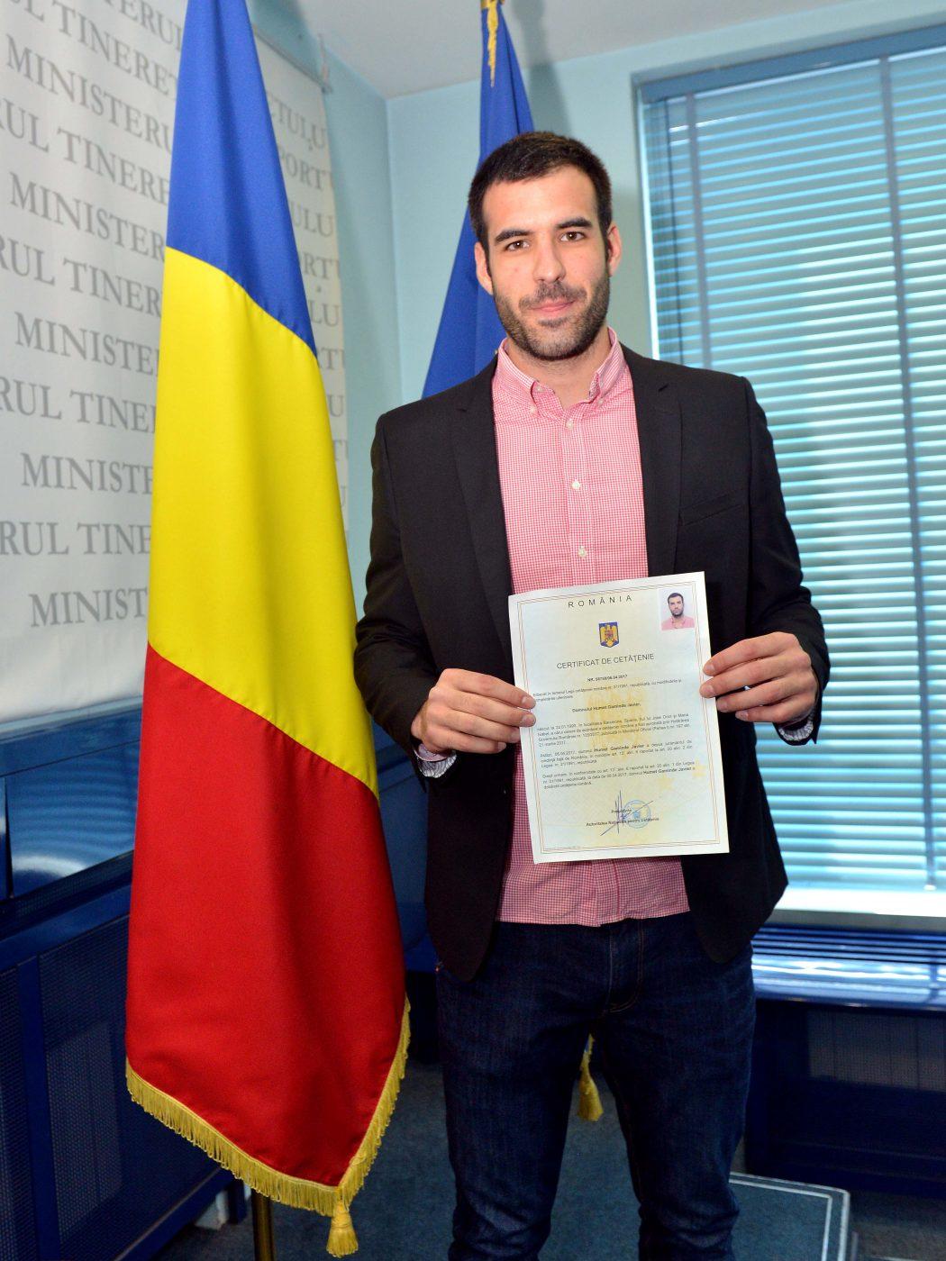 Javier Humet și momentul în care a devenit cetățean român