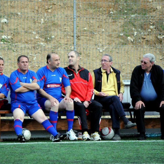 Valentin Ceaușescu, alături de Tudorel Stoica, Lucian Bălan, Constantin Pistol, Emerich Ienei și Mihail Majearu (sursa sportpictures.eu)