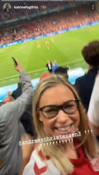 Katrine Friis, iubita lui Andreas Christiansen, dezlantuita la meciul dintre Danemarca si Rusia