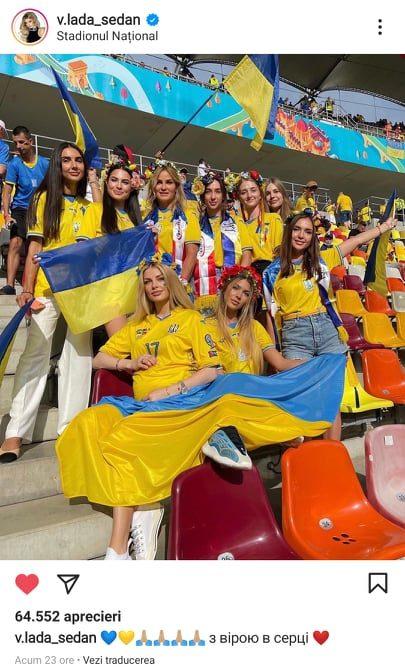Vlada Sedan, pe National Arena la meciul Ucraina - Austria, alaturi de alte opt superbe ucrainience