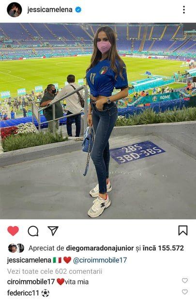 Declaratia de dragoste pe instagram intre Jessica Melena si Ciro Immobile