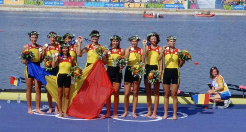 Echipajul de 8+1 al României de la Atena