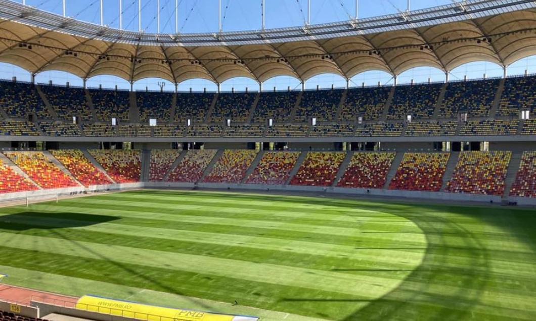 Arena Naţională, după montarea gazonului hibrid