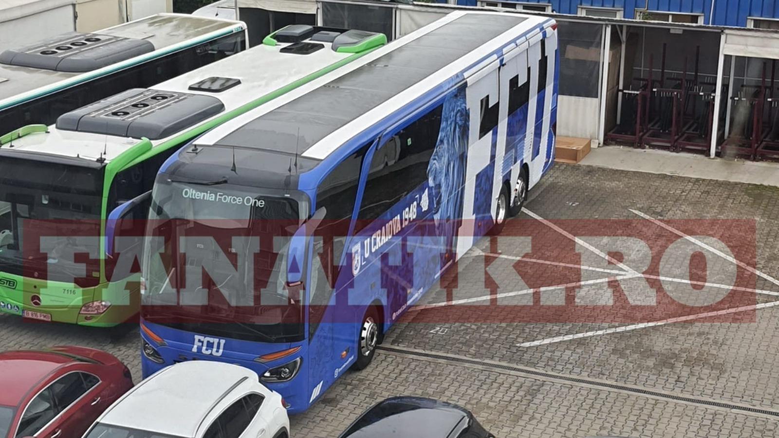 Noul autocar al lui FC U Craiova