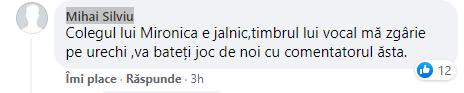 Adrian Costeiu a fost si el criticat de catre telespectatorii PRO TV care au urmarit meciul Turcia - Italia. Sursa foto: captura Facebook PRO TV