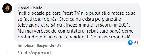 PRO TV a fost linsat de catre telespectatorii nemultumiti. Sursa foto: captura Facebook PRO TV
