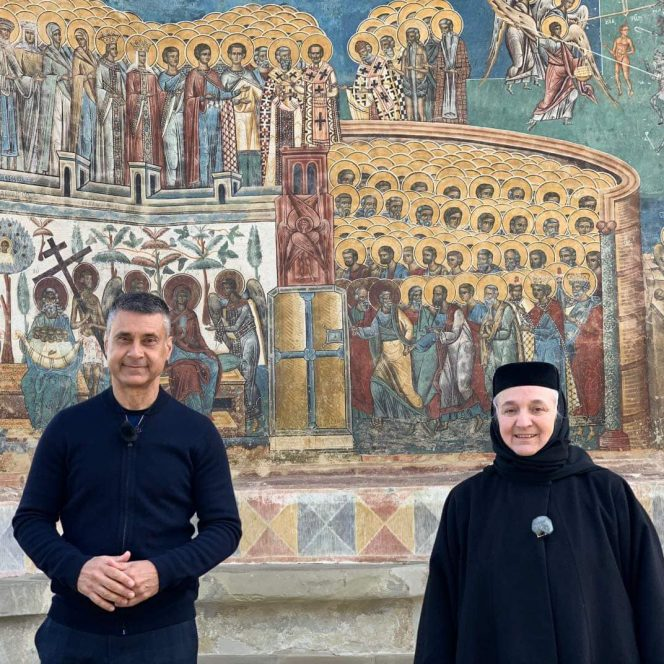 David Saranga, în vizită la Mănăstirea Voroneț (sursa Ambasada Israelului. David Saranga)