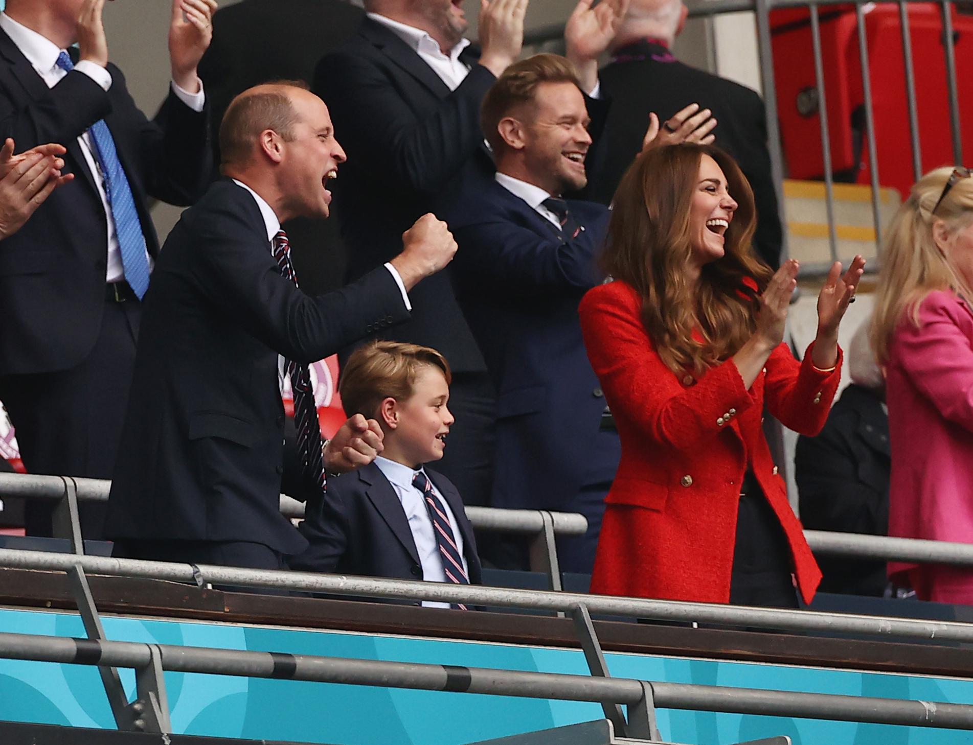 Familia regală a Angliei, dezlănțuită la meciul de pe Wembley cu Germania. Sursă foto: The Sun